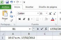 Cómo insertar la fecha o la hora en un documento de excel