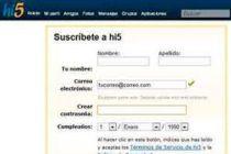 Como cambiar la dirección de correo en Hi5