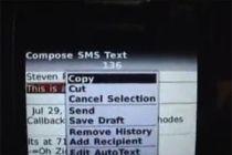 Como copiar y pegar texto en una BlackBerry