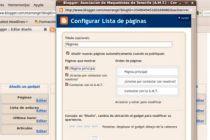 Cómo crear páginas estáticas en Blogger