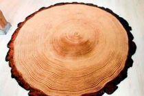 Cómo hacer una alfombra con forma de tronco