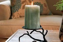 Cómo hacer un candelabro con una simple rama