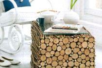 Cómo hacer una mesa con troncos