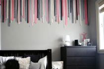 Cómo decorar una pared vacía con telas y cintas