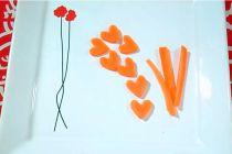 Rodajas de Zanahoria con Forma de Corazón