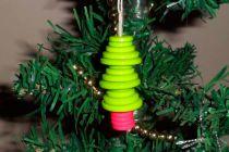 Adornos con Botones para el árbol de Navidad