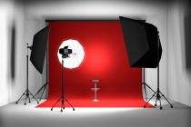 Cómo iluminar un estudio fotográfico. Tecnica de iluminación con dos focos. Iluminar un estudio fotográfico con dos luces.