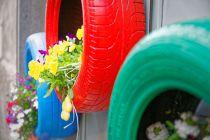 Cómo Decorar el Jardín con Neumáticos